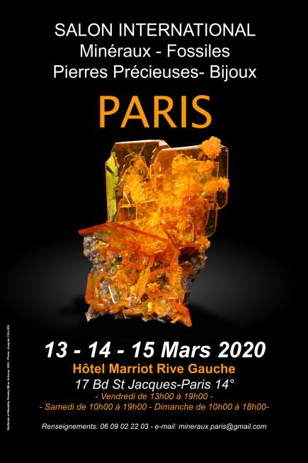 13, 14 et 15 mars – 2020 : Salon international de minéraux et fossiles «Paris Hôtel Marriott»